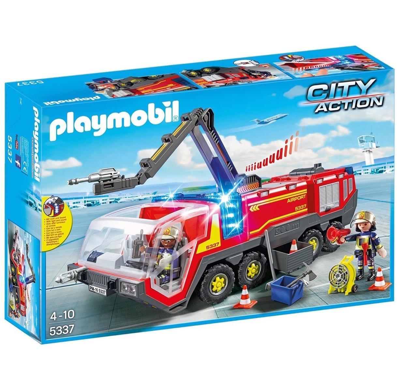 Playmobil 5337 - Camion de pompiers City Action Airport avec lumière et son