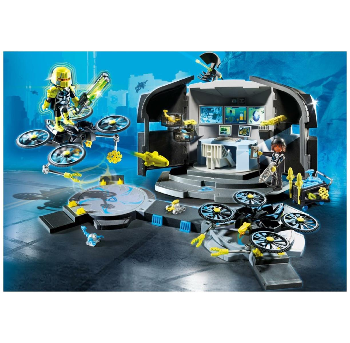 Playmobil 9250-Top Agents-Le Dr Drone's Command Center