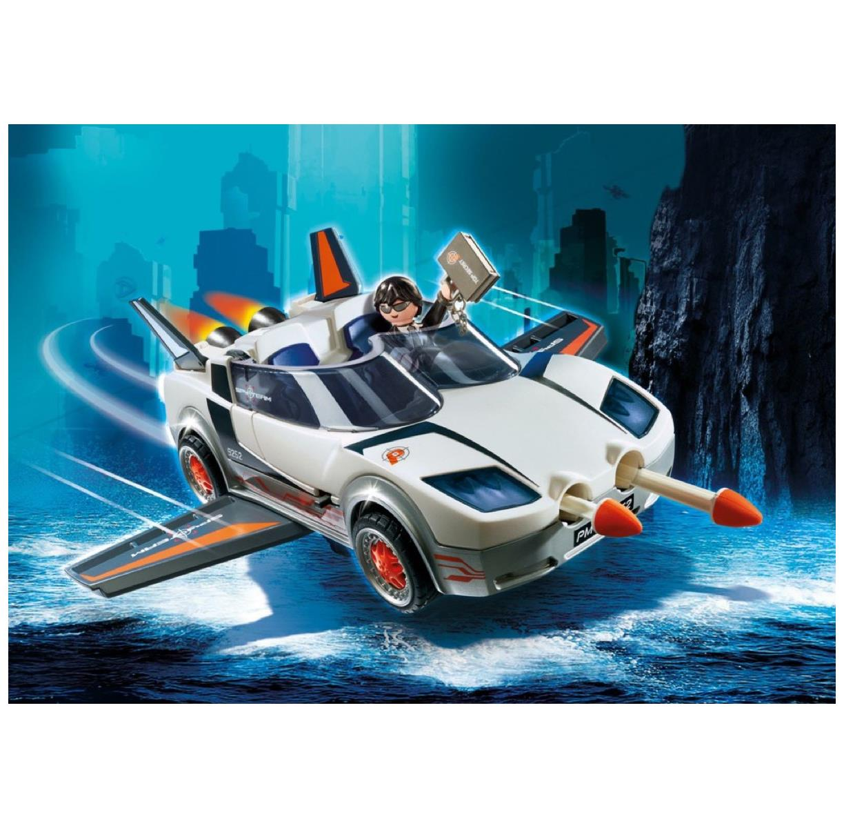 PLAYMOBIL 9252 - Top Agents Agents Agents - Agent P.\'s Spy Racer ...