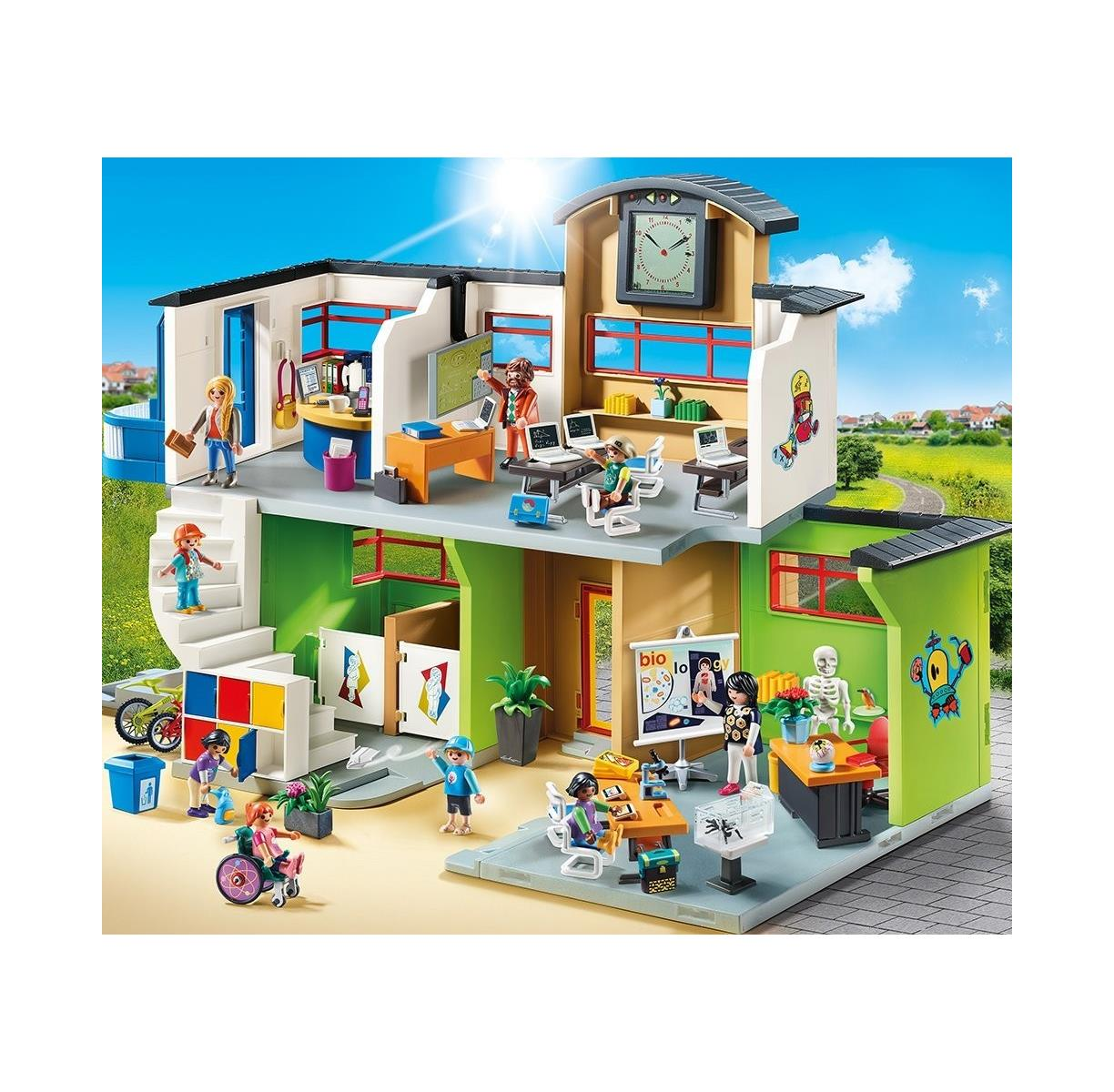 playmobil 9453 city life gro e schule mit einrichtung. Black Bedroom Furniture Sets. Home Design Ideas