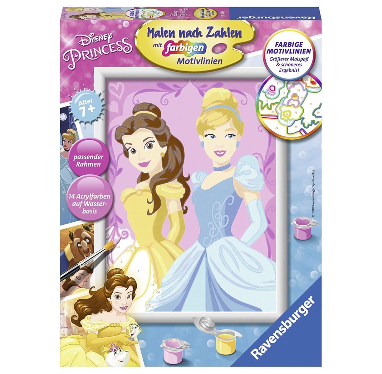 RAVENSBURGER 28654 - Malen nach Zahlen - Disney Prinzessinen, Belle ...