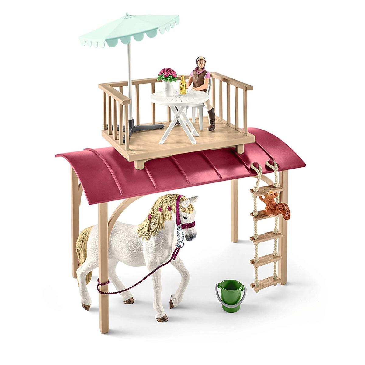 schleich 42415 horse club wohnwagen f r geheime club. Black Bedroom Furniture Sets. Home Design Ideas