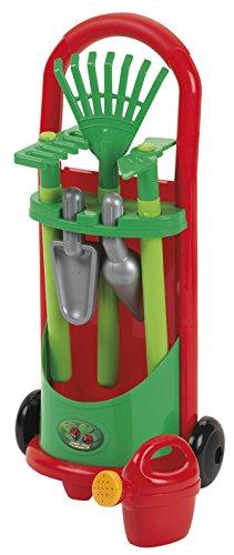 ECOIFFIER 7600000339 - Gartenspielzeug - Kinder-Gärtner-Trolley, mit Zubehör
