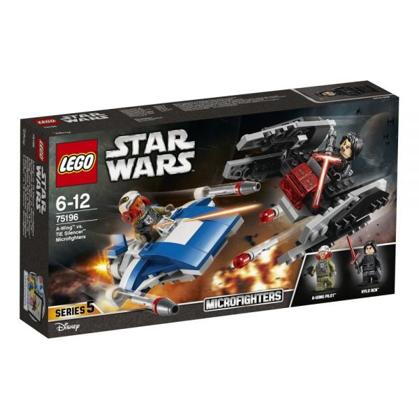 LEGO 75196 - Star Wars - A-Wing vs. TIE Silencer Microfighters