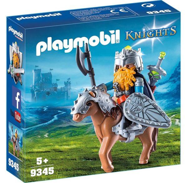 PLAYMOBIL 9345 - Knights - Zwerg und Pony mit Rüstung