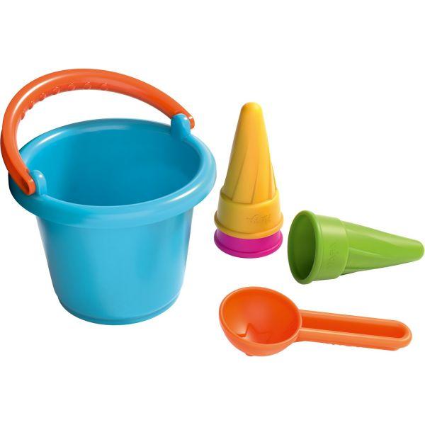 HABA 304680 - Sandspielzeug - Sandspiel-Set Kleinkind-Eimer mit Eistüten