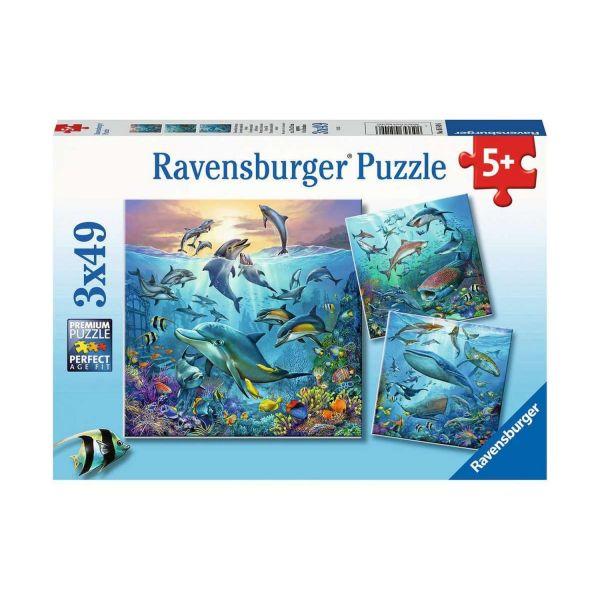 RAVENSBURGER 05149 - Puzzle - Tierwelt des Ozeans, 3x49 Teile