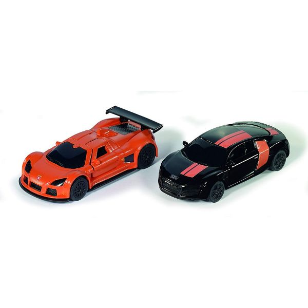 SIKU 6310 - Fahrzeug - Sportwagen Set, schwarz und orange