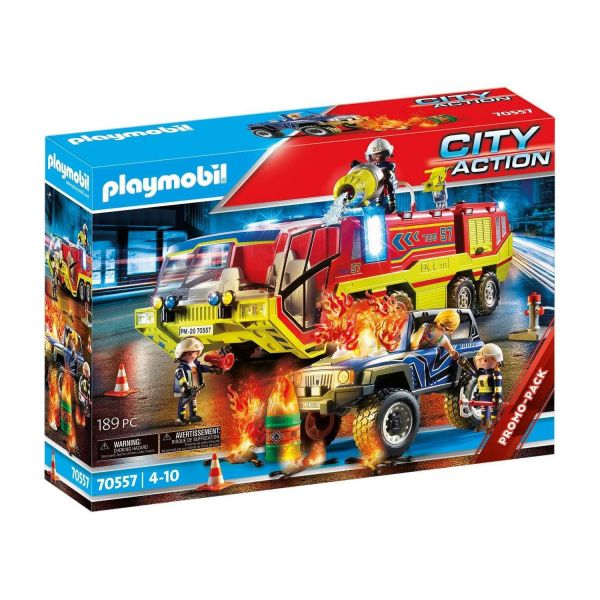 PLAYMOBIL 70557 - City Action - Feuerwehreinsatz mit Löschfahrzeug