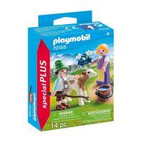 PLAYMOBIL 70155 - Special Plus - Kinder mit Kälbchen