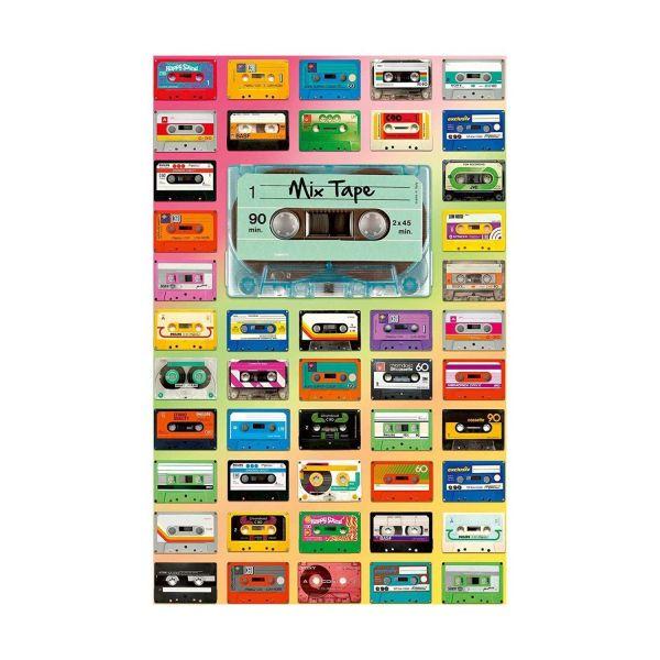 RAVENSBURGER 12962 - Erwachsenenpuzzle - Mix Tape Kassetten, 200 Teile