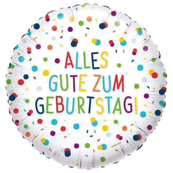 AMSCAN 4146401 - Folienballon Konfetti - Alles Gute zum Geburtstag, 30cm