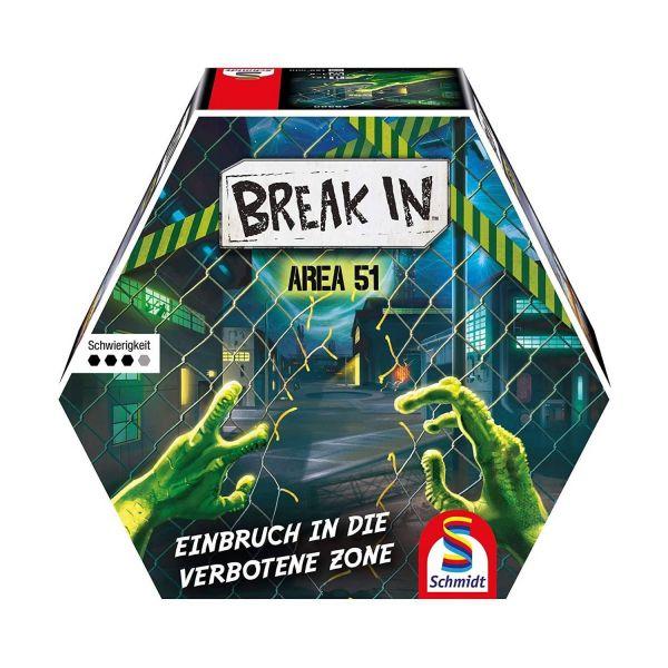 SCHMIDT 49380 - Familienspiel - Break In, Area 51 - Einbruch in die verbotene Zone