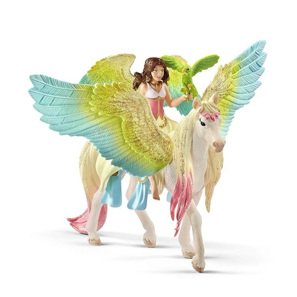 SCHLEICH 70566 - Bayala - Surah mit Glitzer-Pegasus