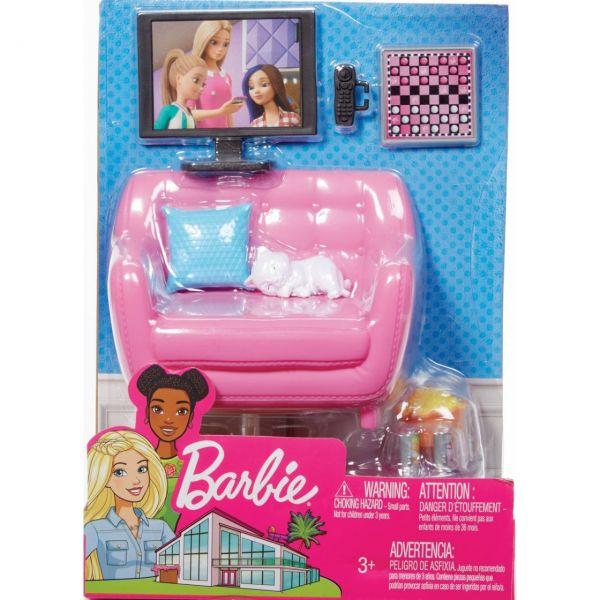 MATTEL FXG36 - Barbie - Möbel-Spielset Wohnzimmer