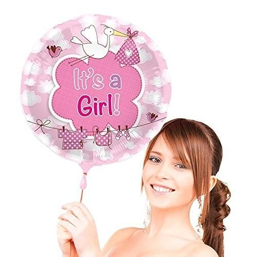 FOLAT 63104 - Geburtstag & Party - Folienballon It´s a girl, 1 Stk., 43 cm
