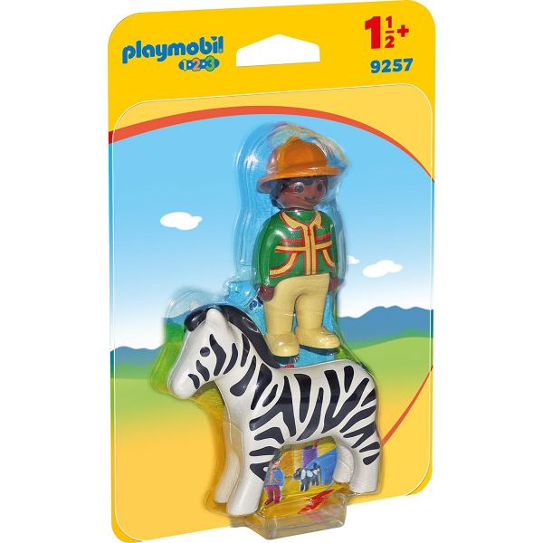 PLAYMOBIL 9257 - 1.2.3 - Ranger mit Zebra