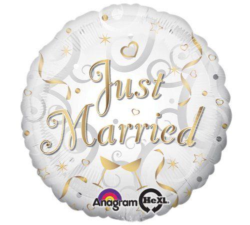 ANAGRAM 25919 - Folienballon - Just Married, 43cm