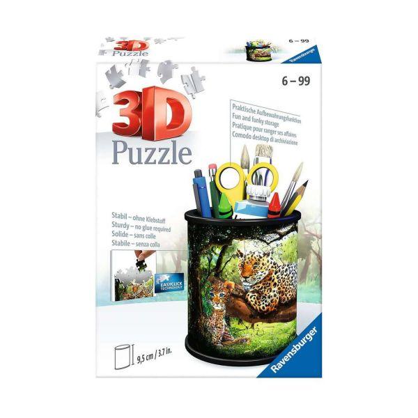 RAVENSBURGER 11263 - 3D Puzzle - Utensilio, Raubkatzen, 54 Teile