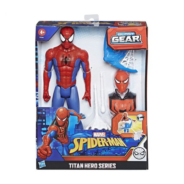 HASBRO E7344 - Marvel Spider-Man - Titan Hero Serie: Blast Gear Spider-Man, 30cm
