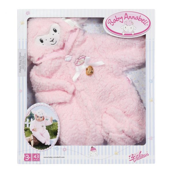 Zapf Creation 703588 - Baby Annabell® - Deluxe Schaf Overall, 43cm