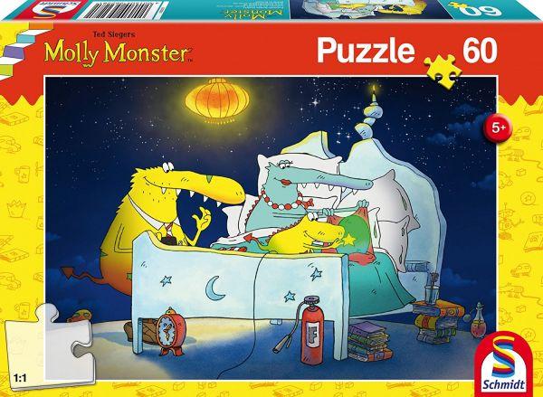 SCHMIDT 56228 Puzzle - Molly Monster bekommt ein Geschwisterchen,60 Teile