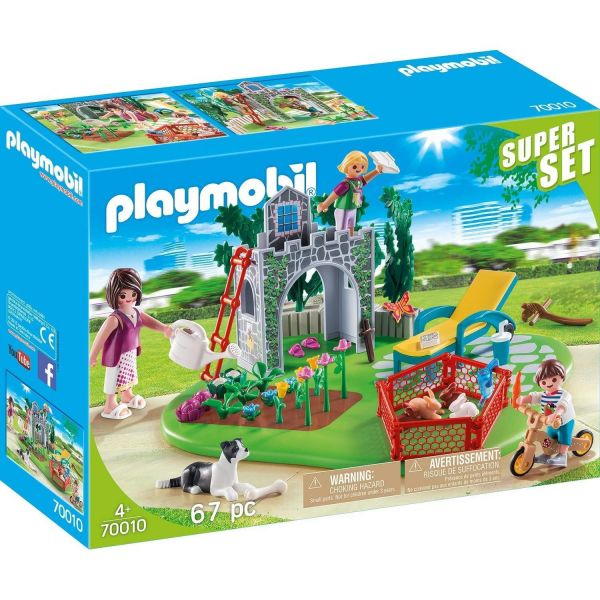 PLAYMOBIL 70010 - SuperSet - Familiengarten