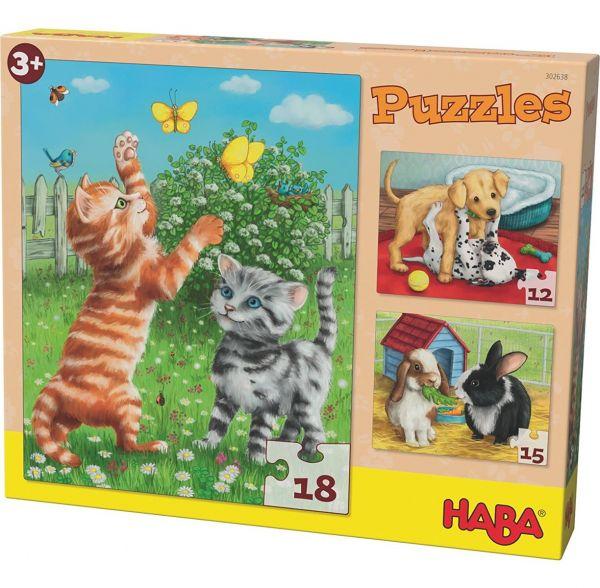 HABA 302638 - Puzzle Haustiere