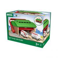 BRIO 33474 - Stationen - Mitnehm-Lokschuppen mit Reisezug
