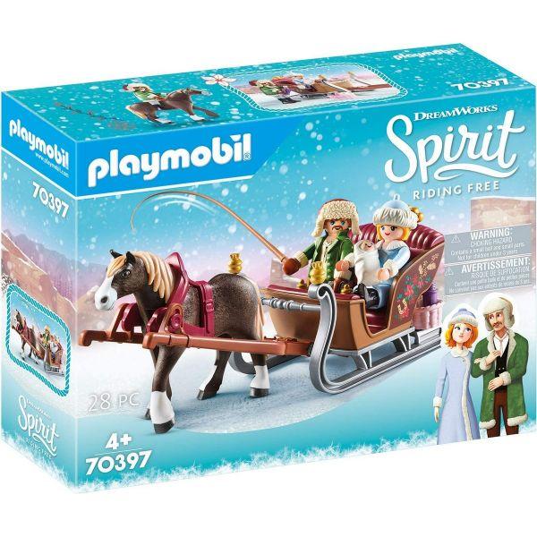 PLAYMOBIL 70397 - Spirit Riding Free - Winterliche Schlittenfahrt