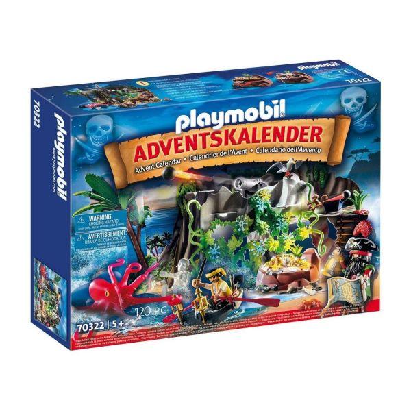 PLAYMOBIL 70322 - Adventskalender - Schatzsuche in der Piratenbucht 2020