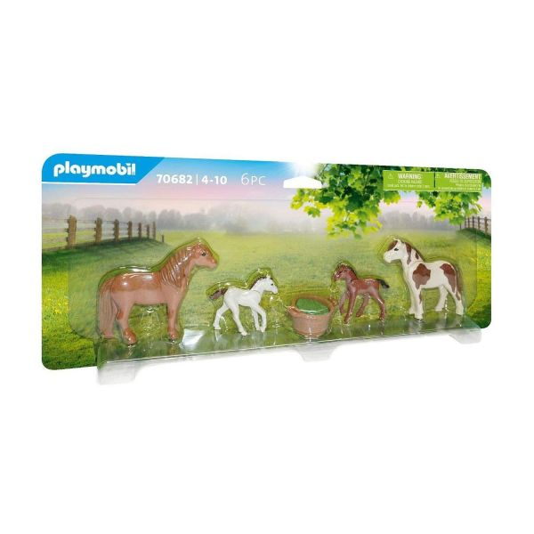 PLAYMOBIL 70682 - Country Ponyhof - Ponys mit Fohlen