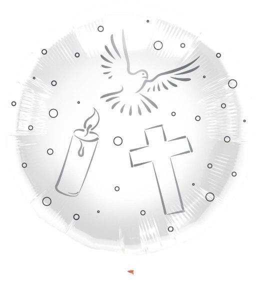 FOLAT 63475 - Geburtstag & Party - Folienballon, Kommunion, 1 Stk., 43 cm