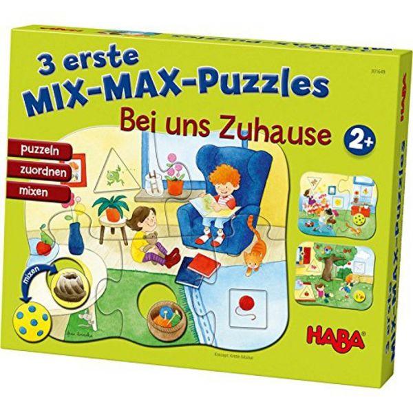 HABA 301649 - 3 erste Mix-Max-Puzzles - Bei uns zu Hause