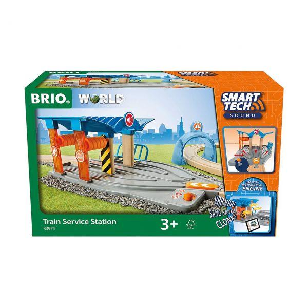BRIO 33975 - Smart Tech - Sound Waschstraße mit Werkstatt