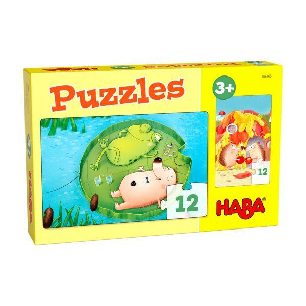 HABA 306165 - Puzzle - Herr Igel, 2x12 Teile