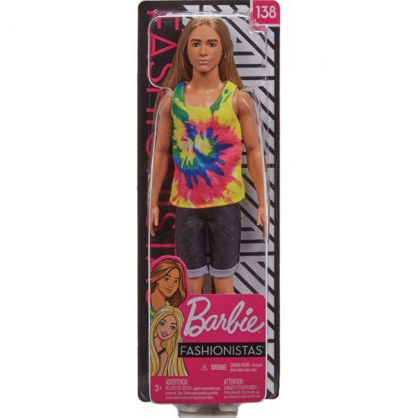 MATTEL GHW66 - Barbie - Fashionistas Ken Puppe (blond) mit langen Haaren