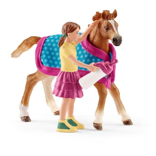 SCHLEICH 42361 - Horse Club - Fohlen mit Decke