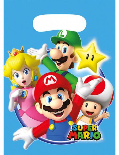 AMSCAN 9901541 - Geburtstag & Party - 8 Partytüten Super Mario