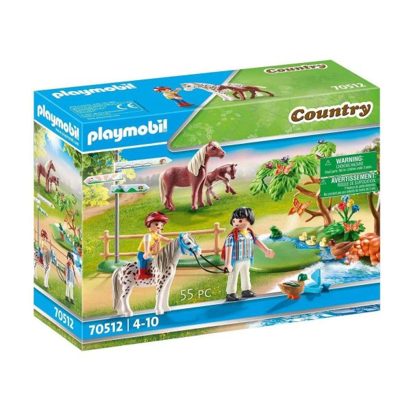 PLAYMOBIL 70512 - Country Ponyhof - Fröhlicher Ponyausflug