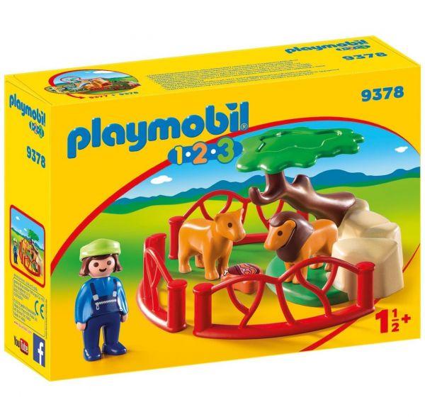 PLAYMOBIL 9378 - 1.2.3 - Löwengehege