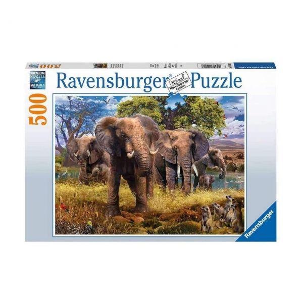 RAVENSBURGER 15040 - Puzzle - Elefantenfamilie, 500 Teile