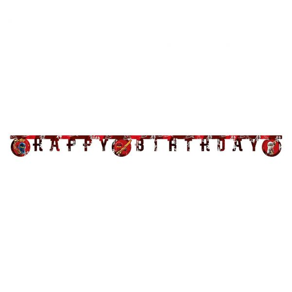 PC 50292244 - Geburtstag & Party - LEGO Ninjago, Happy Birthday Banner, 1 Stk.