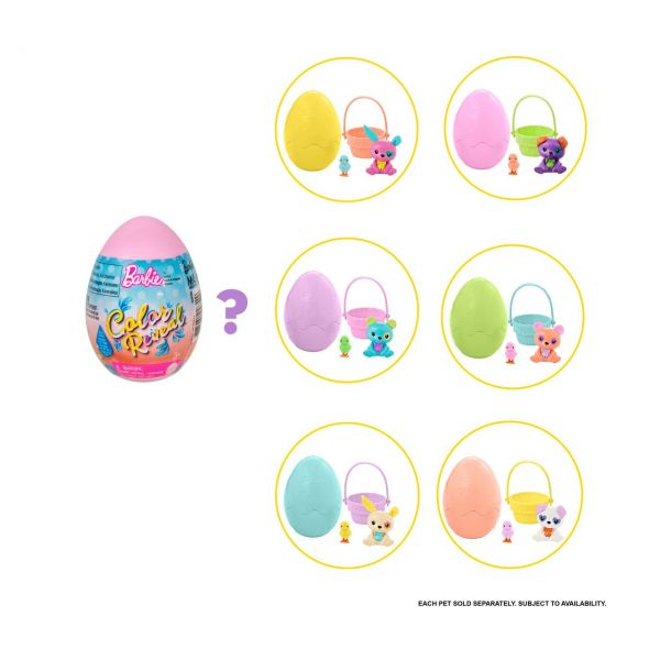 MATTEL GVK58 - Barbie Color Reveal - Osterei, 1 Stk., zufällige Auswahl