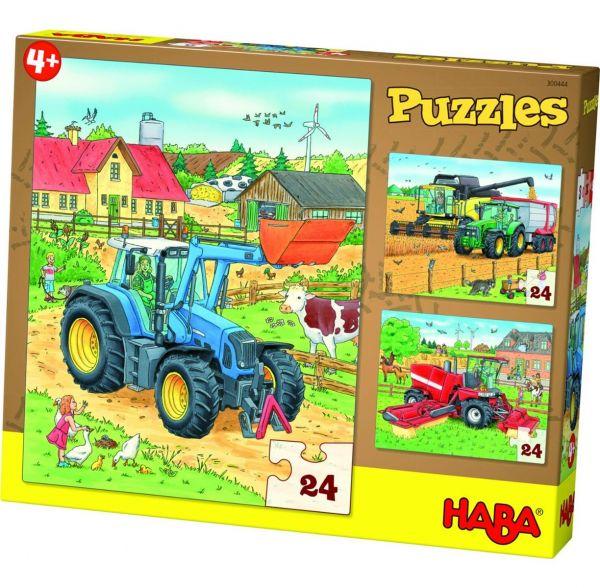 HABA 300444 Puzzles Traktor & Co.
