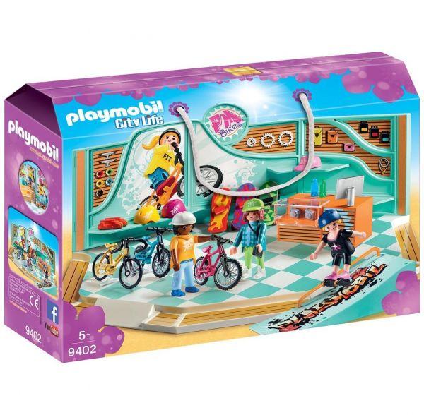 PLAYMOBIL 9402 - City Life - Bike & Skate Shop