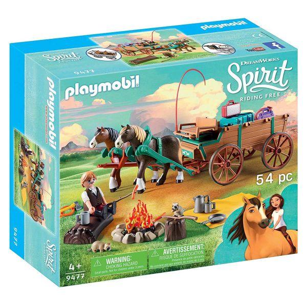 PLAYMOBIL 9477 - Spirit Riding Free - Vater Jim mit Kutsche