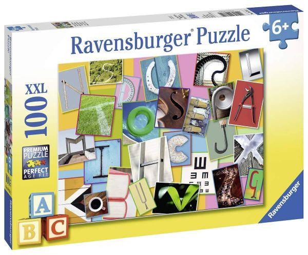 RAVENSBURGER 10761 - Puzzle - Lustiges Alphabet, 100 Teile