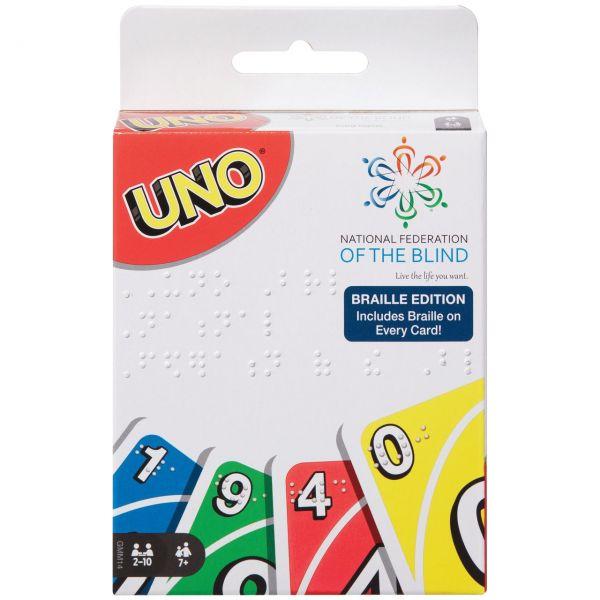 MATTEL GPG06 - Kartenspiel - UNO Braille