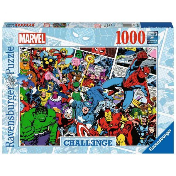 RAVENSBURGER 16562 - Puzzle - Challenge Marvel, 1000 Teile